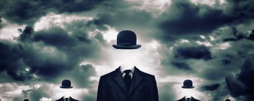 hombres de negocios anónimos